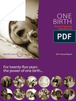 One Birth - 2011 Annual Report, HealthConnect One