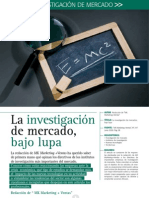 20 La Investigacion de Mercados Bajo Lupa
