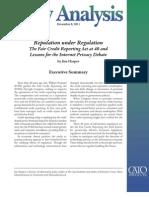 Reputation under Regulation
