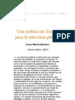 Una política de Estado para la televisión pública