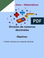 División de números decimales
