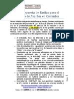 Tarifas Profesionales para Servicio de Avalúos en Colombia
