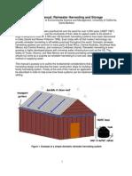 California; Design Manual for Rainwater Harvesting and Storage - University of California, Santa Barbara