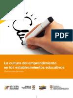 Guia No 39 Cultura del Emprendimiento en Establecimientos Educativos (Educación básica y media)