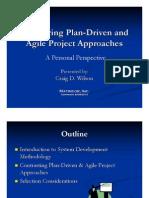 Plan vs Agile