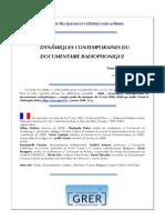 Dynamiques Contemporaines Du Document a Ire Radiophonique Compte-rendu Du Seminaire Du 31 Mai 2008