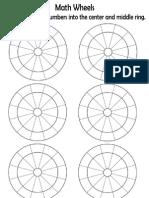 Math Wheels Worksheet