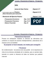 Econom. y Financiacion Empresas - Presupuestos Integrados