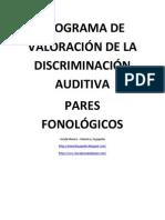 Analisis Discriminación auditiva - Pares fonológicos