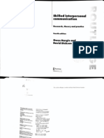 Hargie & Dickson - Interpersonal Communication, A Skill-Based Model