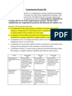 Comprehension Strategies File
