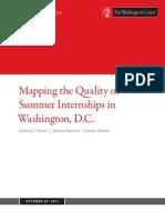 Mapping Quality Summer Internships Washington Dc