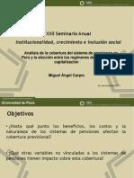 Analisis de la cobertura del sistema de pensiones en Perú y la elección entre los regímenes de reparto y capitalización