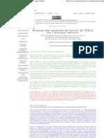 Analyse des schémas de brevet de TESLA sur l'énergie radiante