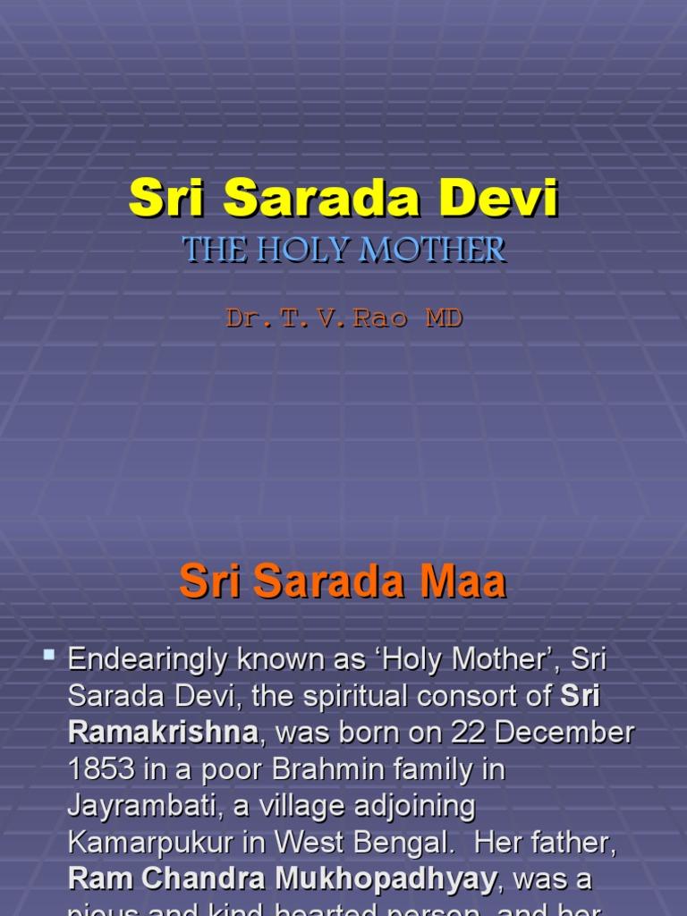 Sri Sarada Devi | Sarada Devi | Religious Behaviour And