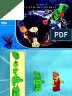 LEGO Green Goblin Instruction Manual 1374