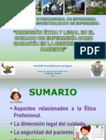 Dimension Etica y Legal en El Cuidado de Enfermeria