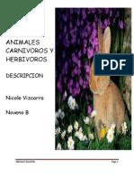 Animales Carnivoros y Herbivoros