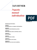 Pequeño Manual Individualista - Han Ryner
