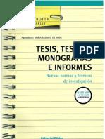 Tesis, tesinas, monografías e informes. Mirta Botta