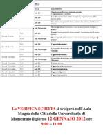 Lezione 1 - 06.10.2011 Programma Del Corso-Organizzazione Del Corpo