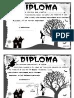 Certificados Do Dia Das Bruxas