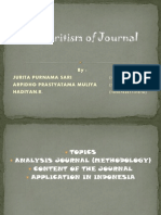 Critizition of the Journal