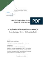 A Importncia Do Acinetobacter Baumannii Na IACS Cor