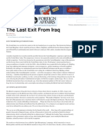 The Last Exit From Iraq _ Foreign Affairs