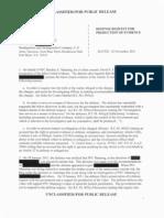 Defense Evidence Request Manning