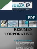 JP VINUEZA Carta de Presentacion Aluminio, Vidrio, Recubrimiento y Policarbonato