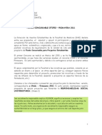 Bases Proyectos Concursables Otoño-Primavera 2011