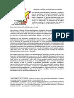 Educación y Conflicto Social y Armado en Colombia