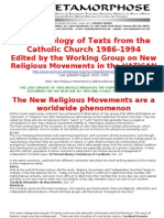 New Age-The Working Group on New Religious Movements in the Vatican