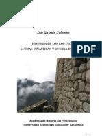 Luis Guzmán Palomino - Historia de los Incas Luchas Dinásticas y Guerra de Panakas