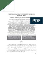 Jozsef M. Nyers - Rekuperacija toplotne energije
