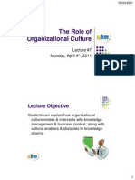 Lecture 07 Role of Organization Culture