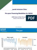 Towards Inclusive Cities