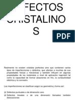DEFECTOS CRISTALINOS