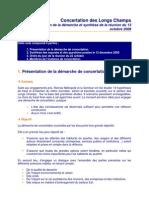 CR Réunion du 13/10/08 -  Concertation Longs-Champs