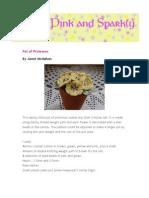 Pot of Primroses Pattern