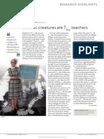 Colonic creatures are Treg teachers