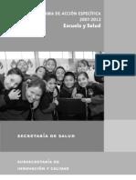 Programa Escuela y Salud DICIEMBRE