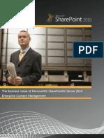 SP2010 Content Business Value