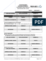 CUESTIONARIO SOCIOECONÓMICO 2011-2012
