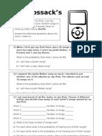 8ma3y Worksheet (iPod) - 20th Oct - Theoretical Probability