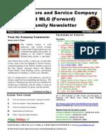Family Newsletter HQSVC Co Dec 1., 2011