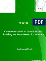 Computer is at Ion of Land Records Karnataka's Experience