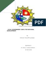 LGU a Report in Politics of Development