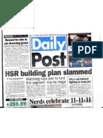 PADP 11122011 Stories on California HSR